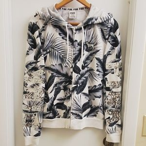 😍worn once VS PINK super cute BLING Hoodie size L